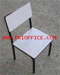 เก้าอี้นักเรียนอนุบาลหน้าโฟเมก้าขาว