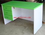 โต๊ะไม้ทำงาน 3 ลิ้นชัก