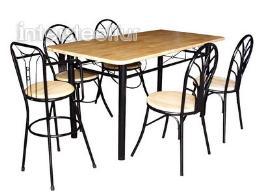 ชุดโต๊ะอาหารเหล็ก