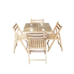 ชุดโต๊ะอาหารไม้ยางพาราพร้อมเก้าอี้พับได้ 4