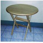 โต๊ะกลมพับได้หน้าทึบ P015