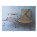 โต๊ะญี่ปุ่น ขาโครเมี่ยม พับได้ P036