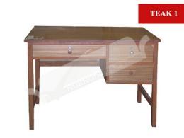 โต๊ะทำงานไม้อัดสัก TEAK 1