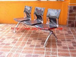 เก้าอี้แถว 3 ที่นั่ง โครงชุปโครเมี่ยมทั้งตัว