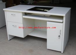 โต๊ะคอมแบบฝัง ใส่จอ LCD ผิว PVC