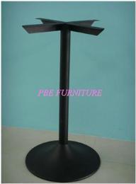 ขาโต๊ะทรงแชมเปญเหล็กหล่อแบบมาตรฐาน อบสีดำ-ชุบโครเมียม