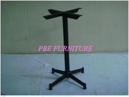 ขาโต๊ะ 4 แฉกสั้น อบสีดำ-ชุบโครเมียม