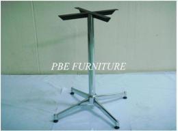 ขาโต๊ะ 4 แฉกยาว อบสีดำ-ชุบโครเมียม