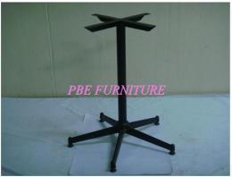 ขาโต๊ะ 5 แฉกยาว อบสีดำ ชุบโครเมียม