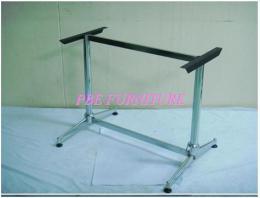 ขาโต๊ะ แฉกยาวคู่ อบสีดำ-ชุบโครเมียม