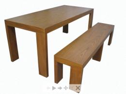 โต๊ะอาหารม้านั่งยาว