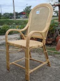 เก้าอี้พิงสูงสานที่นั่ง