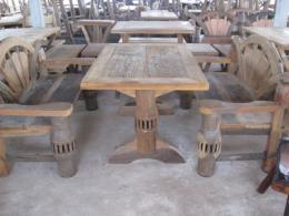 T017 โต๊ะสนามเกวียน ขนาด 1.20 เมตร