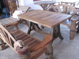 T015 โต๊ะสนามเกวียน 1.20 เมตร 3 ชิ้น