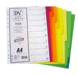 อินเด็กซ์ INTOP/PVC-10หยัก/10สี # DX840