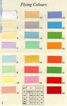 กระดาษสี Flying Colours 160 แกรม ขนาด A4 50 แผ่น เบอร์ 17-30