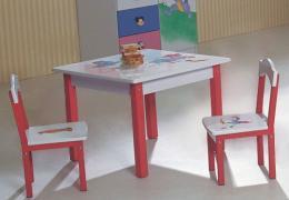 เฟอร์นิเจอร์ ชุดโต๊ะเก้าอี้เด็กเหลี่ยม