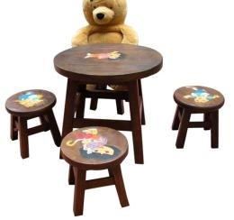 ชุดโต๊ะเก้าอี้ไม้เด็ก ดอร่า