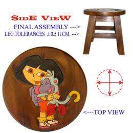 เก้าอี้ไม้เด็ก ดอร่า4 อุ้มลิง