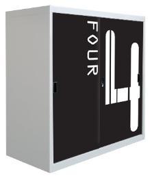 ตู้บานเลื่อน3ฟุต ลายตัวเลข