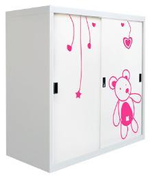 ตู้บานเลื่อน 3ฟุตลายลูกหมี
