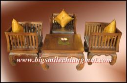 โต๊ะชุดเก้าอี้ขาคู้