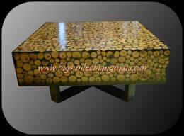 โต๊ะกลางไม้ลำไย