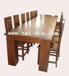 ชุดโต๊ะอาหารเหลี่ยมขาใหญ่(ใหญ่)