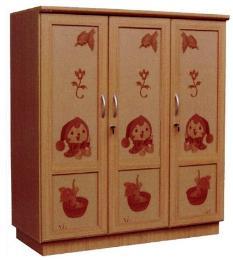 ตู้เสื้อผ้าเด็ก 3ประตู ลายนารูกะ Tu-child-na1