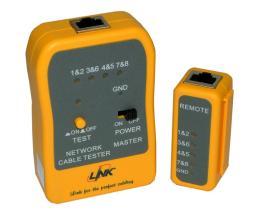 เครื่องเช็คคู่สายแลน LINK Network Cable Tester