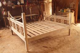 เตียงนอนไม้สัก ขนาด 6 ฟุต