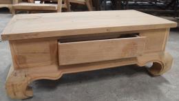 โต๊ะกลางไม้สัก 1 ลิ้นชัก