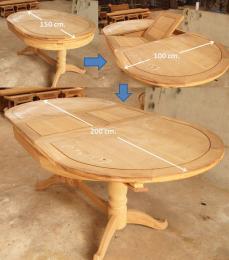 โต๊ะไม้สัก ทรงวงรี