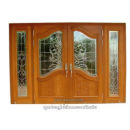 ชุดประตูไม้สักกระจกนิรภัย_038