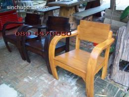 เเก้าอี้ไม้สักท้าวแขนอ่อน(ชุดล้านนาโบราณ)