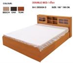 เตียงบานเลื่อน 6 ฟุต + ลิ้นชัีกเก็บของ รุ่น B-Slide-6