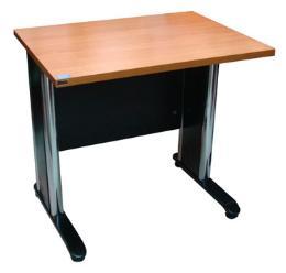 โต๊ะทำงานขาโครเมี่ยม ขนาด 80 ซม