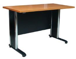 โต๊ะทำงานโล่งขาโครเมี่ยม ขนาด 1.20 ม