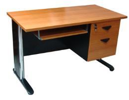 โต๊ะคอมพิวเตอร์ขาโครเมี่ยม ขนาด 120 ซม