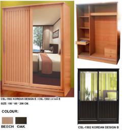 ตู้เสื้อผ้าบานสไลด์ 150 ซม. เกาหลี B, E