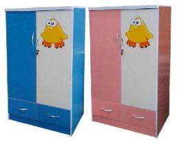 ตู้เสื้อผ้าเด็ก 2 ประตู ทูโทน