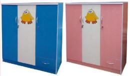ตู้เสื้อผ้าเด็ก 3 ประตู ทูโทน