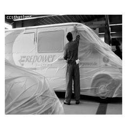 พลาสติกสำหรับคลุมรถก่อนพ่นสี รุ่นมีไฟฟ้าสถิตย์
