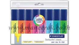 ปากกาเน้นข้อความ [STAEDLER] TOP-STAR สีแดง