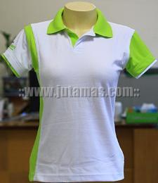 เสื้อโปโลผ้าจูติ ตัดต่อแต่งสี polo461