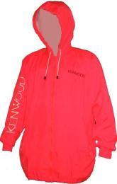 เสื้อแจ็คเก็ตผ้าร่มพร้อมhoodสีส้มสะท้อ jacket163