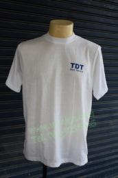 เสื้อคอกลม สีขาว พิมพ์ tshirt101