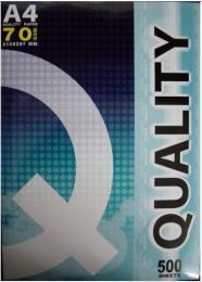 กระดาษถ่ายเอกสาร 70G A4 500 แผ่น QUALITY