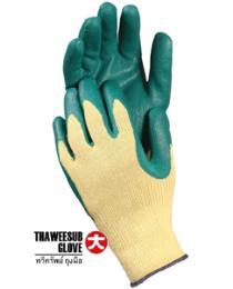 ถุงมือด้ายถักเคลือบยาง สำหรับงานอุตสาหกรรม