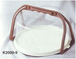 กล่องพลาสติกใส่ขนมเค้ก (มีหูหิ้ว) 3 ปอนด์